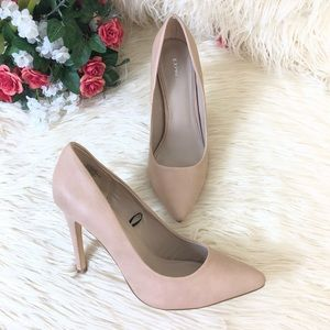 Express Pointy Toe Nude Stiletto Pump Heels